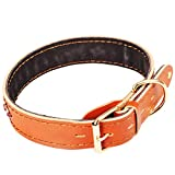 Gulunmun Klassische Halsbänder Basic Halsbänder Leder Seil Schleife Halsband Leder Hundehalsband Leder Halsband Leder Halsband Hundehalsband, L