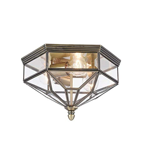 Chandeliermodern Urban Style Ceiling Light, Bronze Metal Frame, Glass Shade Excl. 3 Bulbs X E27 60 W