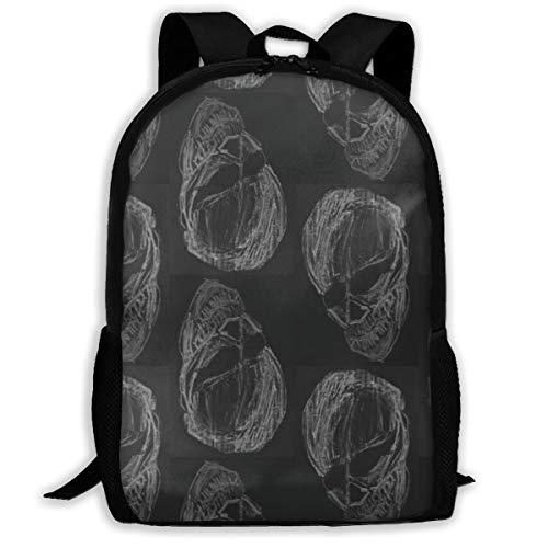 Klassischer Rucksack Chalkboard Skull Print_10079 Reise-Laptop-Rucksack, Extra große College School Student Rucksack für Männer und Frauen
