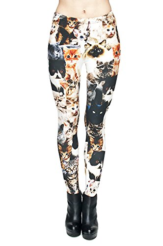 Tamskyt Damen Leggings One size Katzendesign