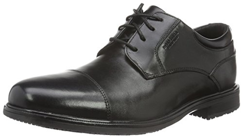RockportEssential Details Ii Captoe - Scarpe Basse Stringate uomo , nero (Black (Black Leather)), 43