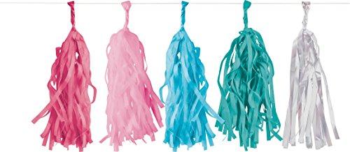 rlande * Flamingo Paradise * als Deko für Mottoparty oder Kindergeburtstag // Party Geburtstag Hawaii Pink Tassel Garland Partykette ()