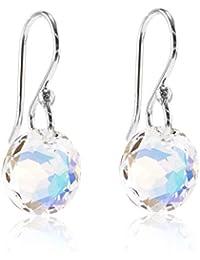 a91849a5a3df Pendientes de plata de ley con cristales de Swarovski para mujer