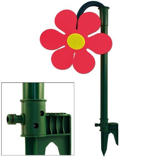 Deuba Wassersprinkler Blume mit Universal-Adapter für Wasserschläuche - Rot