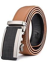 AQAQ Hombre Piel De Ternero Cinturón De Cintura Bonito / Fiesta / Trabajo / Casual Todas Las Temporadas , Khaki , 125Cm