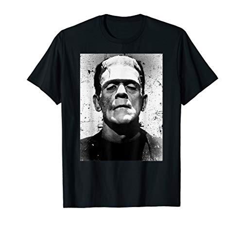 Classic Halloween Monster Poster Horror Movie Frankenstein T-Shirt -