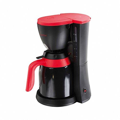 Domoclip DOD129Kaffeemaschine, elektrische, mit Thermoskanne, schwarz und rot, 1Liter, 800
