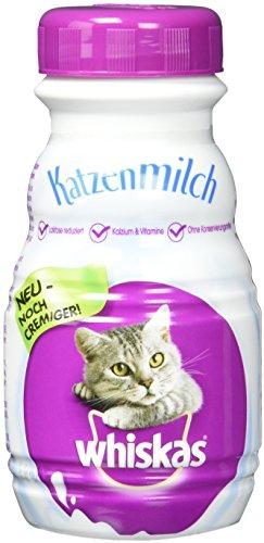 Whiskas Katzenfutter Katzenmilch, 6 Flaschen (6 x 200 ml)