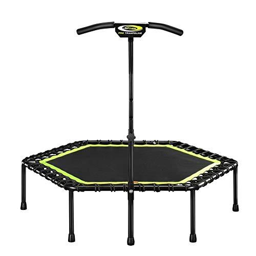 Trampolin Indoor Fitness, langlebig und Sicher Bungee Rebounder mit Stabilem Griff, Ideal für Garten/Gymnastik/Aerobic-Übungen für zu Hause, Max Gewicht von 150 kg (Farbe : Grün)