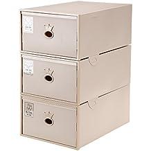IRONLAND Placard sous-vêtements Organisateur tiroir diviseur en Plastique  empilable boîte de Rangement 3 Set ab948f1cb2cd