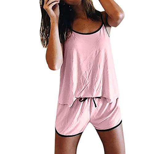 ZARLLE-pijama Camisones para Mujer Ropa para Mujer Mujer Verano Corto Saten Seda,Suave,Cómodo,Sedoso...