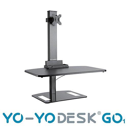 Monitor Yo-Yo Desk GO1 de un solo brazo con ajuste de altura, solución...