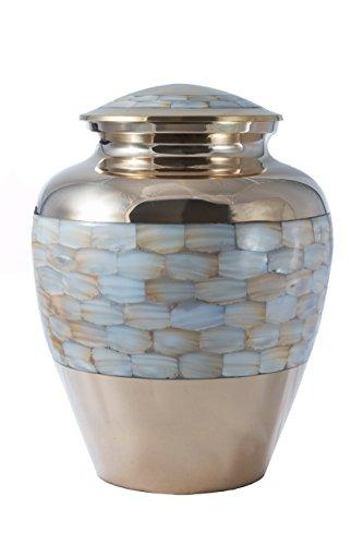 Urns UK - Urna de metal, color pantalla funeraria Urns en casa o en nicho en Columbario (25.4cm)