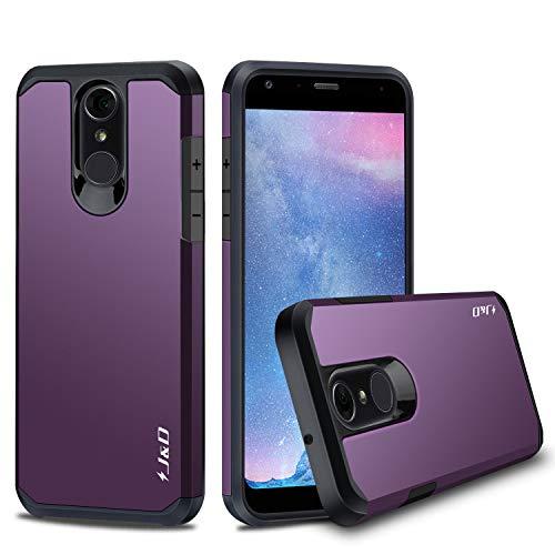 J & D LG Q7 Hülle, LG Q7+ Hülle, LG Q7α Hülle, [ArmorBox] [Doppelschicht] [Heavy-Duty-Schutz] Hybrid Stoßfest Schutzhülle für LG Q7, LG Q7+, LG Q7α - Violett