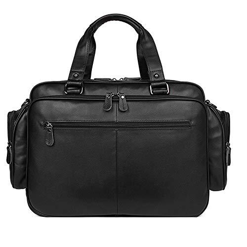 GCCLCF Leder Herren Tasche Aktentasche große Kapazität Nappa Lederhandtasche 16 Zoll Computertasche - Nappa-leder-computer-aktentasche
