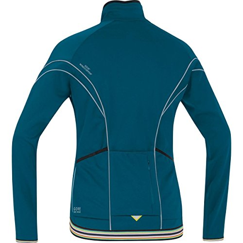 GORE BIKE WEAR, Femme, Veste Thermique de cyclisme sur route, chaude, GORE WINDSTOPPER Soft Shell, POWER LADY 2.0 WS, SO, JWWPOW Blu/Rosa