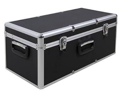Aufbewahrungskoffer Transportkoffer S in Alukoffer - Optik, schwarz