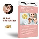 magnopuncture - Imán antihumo, acupuntura magnética Original, fácil de no Fumar Gracias a la acupuntura magnética, Anillo de Masaje sin estrés