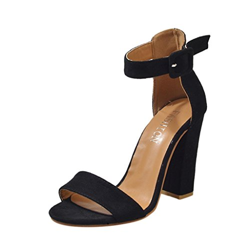 Beautyjourney sandali donna con zeppa estive elegant scarpe donna estive eleganti scarpe donna tacco medio sandali gioiello - scarpe donna tacco eleganti sexy plateau medio alto (41, nero)
