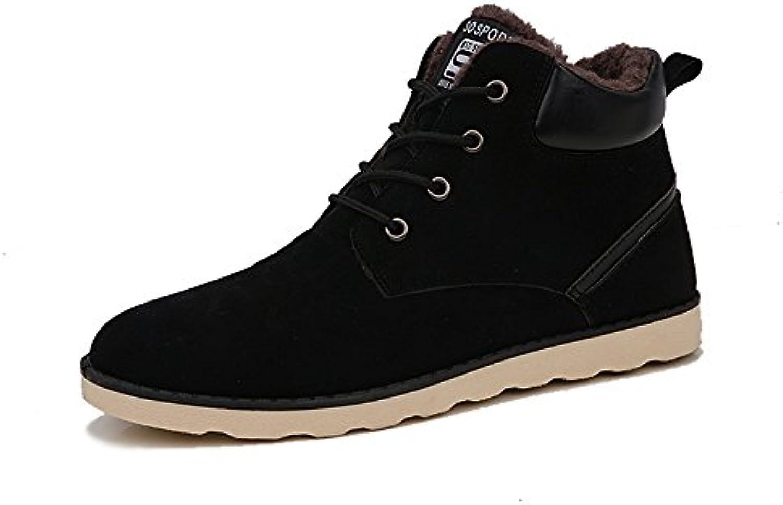 Hishoes Hombres invierno ocasional gamuza Zapatos Anti-deslizante calidas botas Zapatos de Trabajo Deportes al...