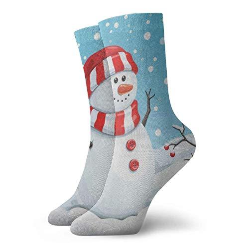 Sportliche Herrensocken Crew Socks Cute Snowman Fruit Snow Snowflake Christmas Fabulous Unisex Casual Stocking Decor Sock Clearance for Teens
