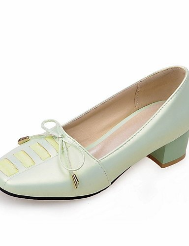 WSS 2016 Chaussures Femme-Bureau & Travail / Décontracté-Bleu / Vert / Rose / Blanc / Gris-Gros Talon-Confort / Bout Carré-Talons-Polyuréthane green-us6.5-7 / eu37 / uk4.5-5 / cn37