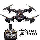 Drone RC, Mini Quadricoptère RC Portable, Caméra HD 1280 * 720P, Bras Repliables, Gyro à 6 Axes, Retour à Une clé/Mode sans Tête/Maintien de l'altitude/Flips 3D /Transmission 5G WiFi