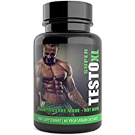Super Testo XL Extreme Natural Testosterone Booster for Men - 60 Capsules - UK Manufactured Natural Supplement , Contains Tribulus Terrestris Increase Testosterone Levels Libido Muscle & Strength