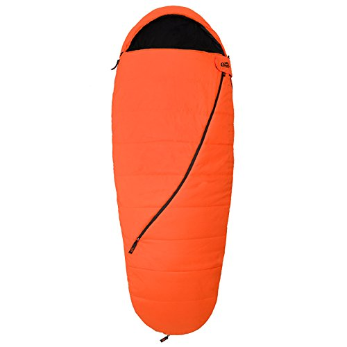 Qeedo Buddy Sacco a Pelo, 225 x 90 cm (Qeedo Comfort Control, Best Shape & Soft Touch) - arancione