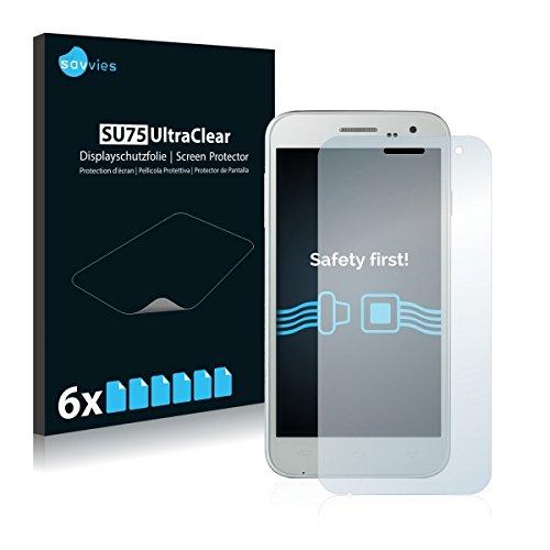 6x Savvies SU75 UltraClear Bildschirmschutz Schutzfolie für Doogee Voyager2 DG310 (ultraklar, mühelosanzubringen)