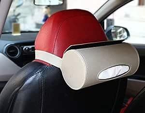 PegasusPremium Car Tissue Box Holder with 50 Tissues (Beige)