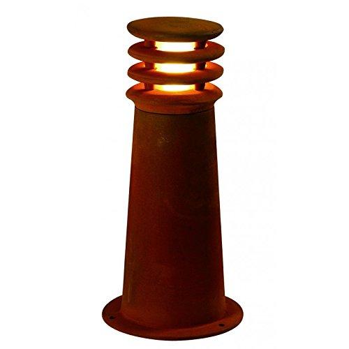 Lampe d'extérieur Rusty 40 cm en Fer avec ampoule