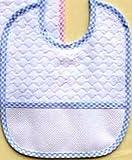 Baberos Rizo Pack de 3unidades) azul claro