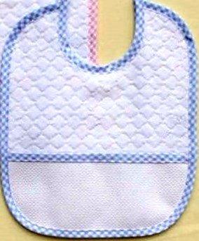 Baberos Rizo Pack 3unidades azul claro