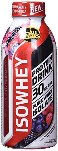 All Stars Isowhey Pure Whey-Isolat Drink, Wildberry, 16er Pack (16 x 500 ml) -