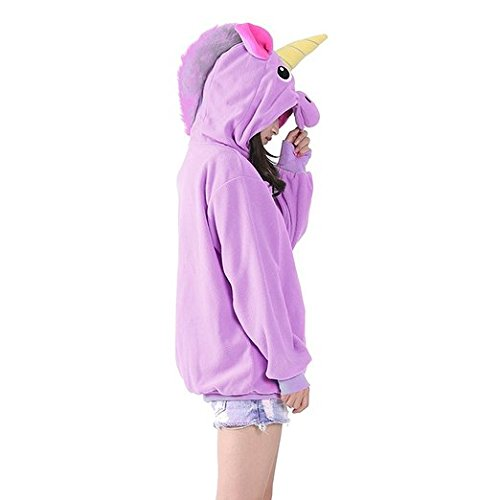 SAIANKE Damen Kapuzenpullover Mehrfarbig Mehrfarbig Purple PONY