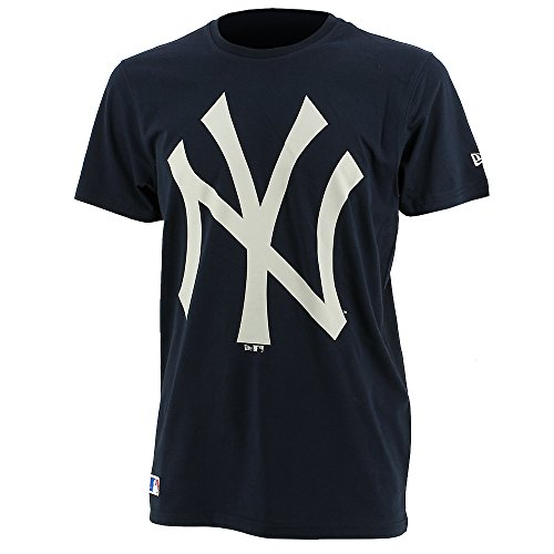 New Era Herren T-Shirt Mlb Crew Tee Ny Yankees Navy