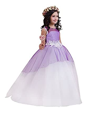 Princhar Tulle Flower Girl DressJunior Bridesmaids Dress ...