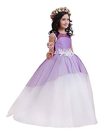 Princhar Tulle Flower Girl Dress Junior Bridesmaids Dress