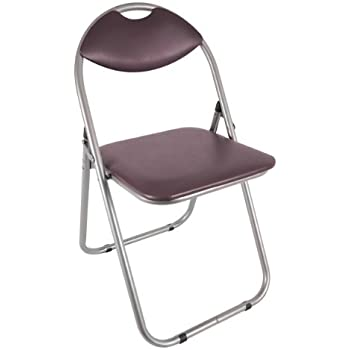 Anika Home 60560 Paris Faux Leather Padded Folding Chair
