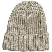 Sombrero cálido de otoño e Invierno Sombrero de Punto Pareja Femenina más Terciopelo Cabeza de cúpula Sombrero de Lana,Beige