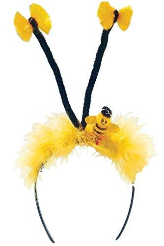 Bienchen Haarreif in gelb/ schwarz für Bienchen Bienen Kostüm Zubehör