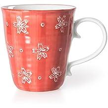 Chinzee Taza de Café de Desayuno (230ml/8oz) Rojo Hecho a Mano Caja de Regalo Original para Cumpleaños