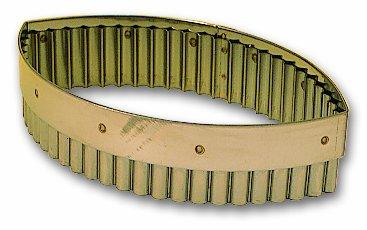 Découpoir ovale cannelé professionnel en inox à longueur de 160 mm