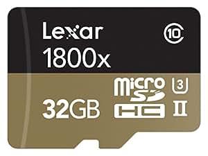 Lexar Professional 1800x Cartes Média microSDHC 32 Go