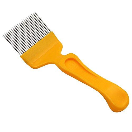 hl uncapping Gabel Kunststoff Griff Honig Messer Schnitt Kork Gerade Nadeln Bienenzucht Tools ()