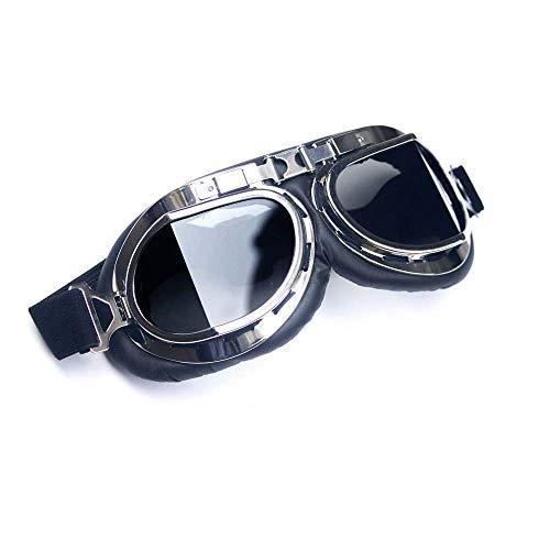 BIKE STUFF Wide Angle Retro Black Glass Goggles