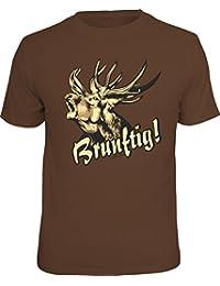 Original RAHMENLOS T-Shirt für den Jäger: Brunftig!