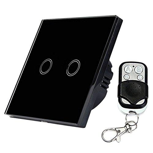 Gosear Touch Sensor Steuer Schalter Wand Panel Smart Licht Schalter EU Standard Steuer von Live Draht Zwei Weg mit Remote Steuer Weiß