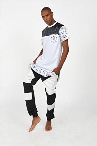 Pizoff Unisex Hip Hop Langes T-Shirt mit Medusa Druckmuster und Reißverschluss Y1242